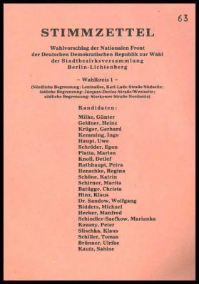 Imprimes pour les elections aux conseils de district les reunions du conseil municipal les assemblees de district de la ville et les conseils locaux sur le 7 mai 1989
